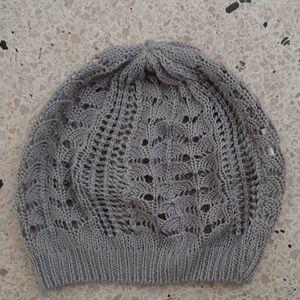 Accessories - 🎀free🎀 Gray Crochet Beannie